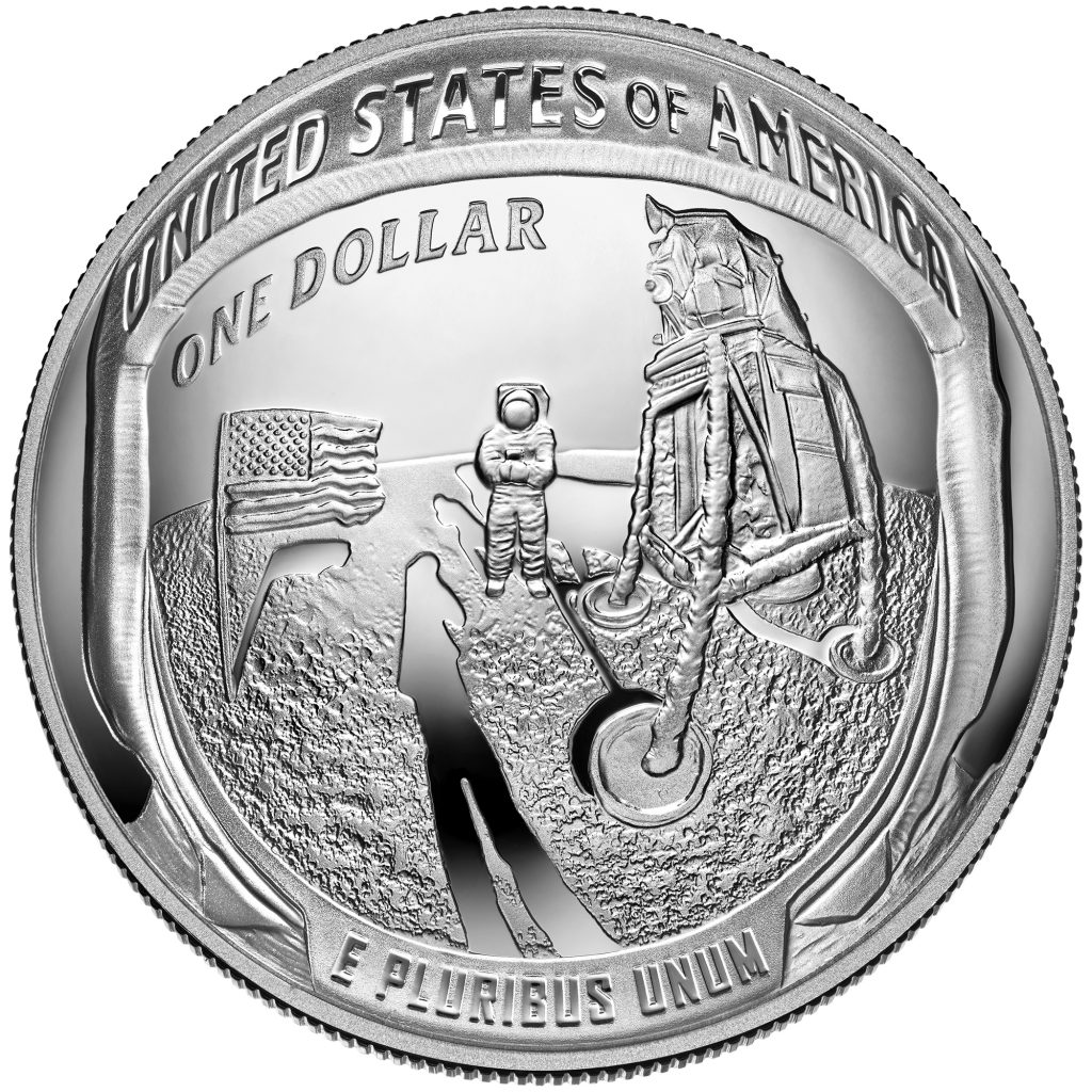 Apollo 11 Commemorative Coin Reverse