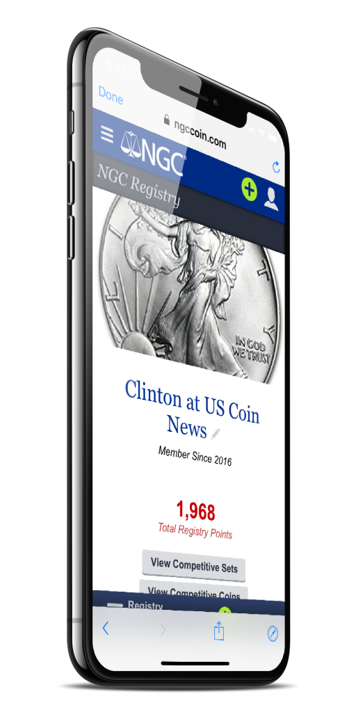 Clinton's NGC Collection Registry