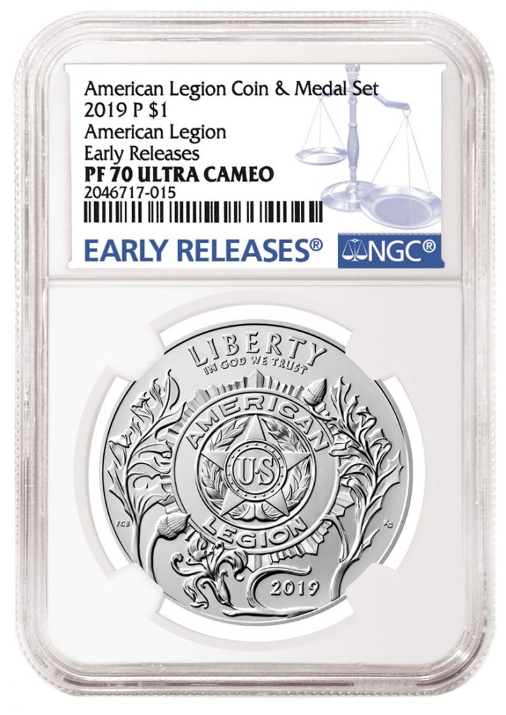 NGC 2019 American Legion Silver Coin Holder