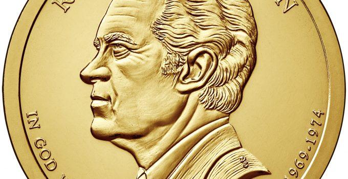 2016 Presidential Dollar Coin Richard M. Nixon Uncirculated Obverse