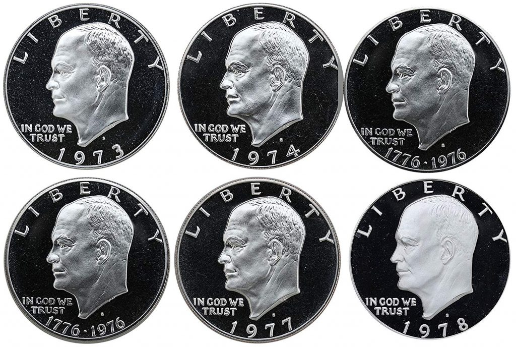 1973-1978 Eisenhower Dollar Proof Coins