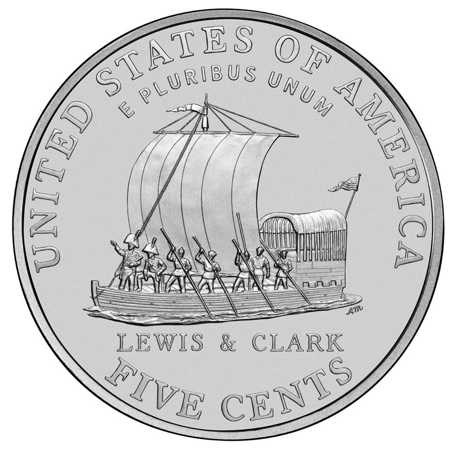 2004 Westward Journey Nickel Series Keelboat Uncirculated Reverse