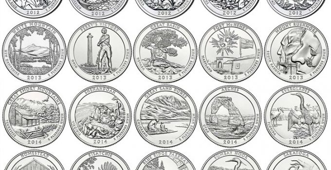 2010-2018 P & D America The Beautiful Quarters Brilliant Uncirculated