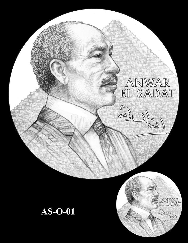 AS-O-01 -- Anwar El Sadat CGM Obverse