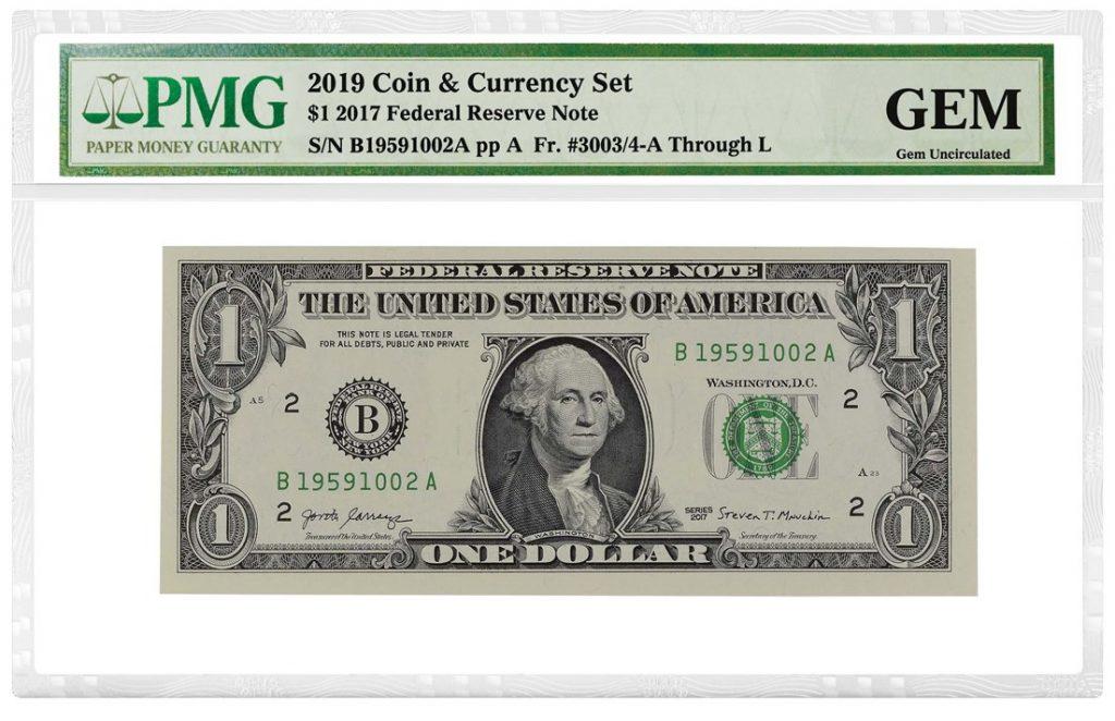 PMG Native American Dollar Coin & Bill Set Holder