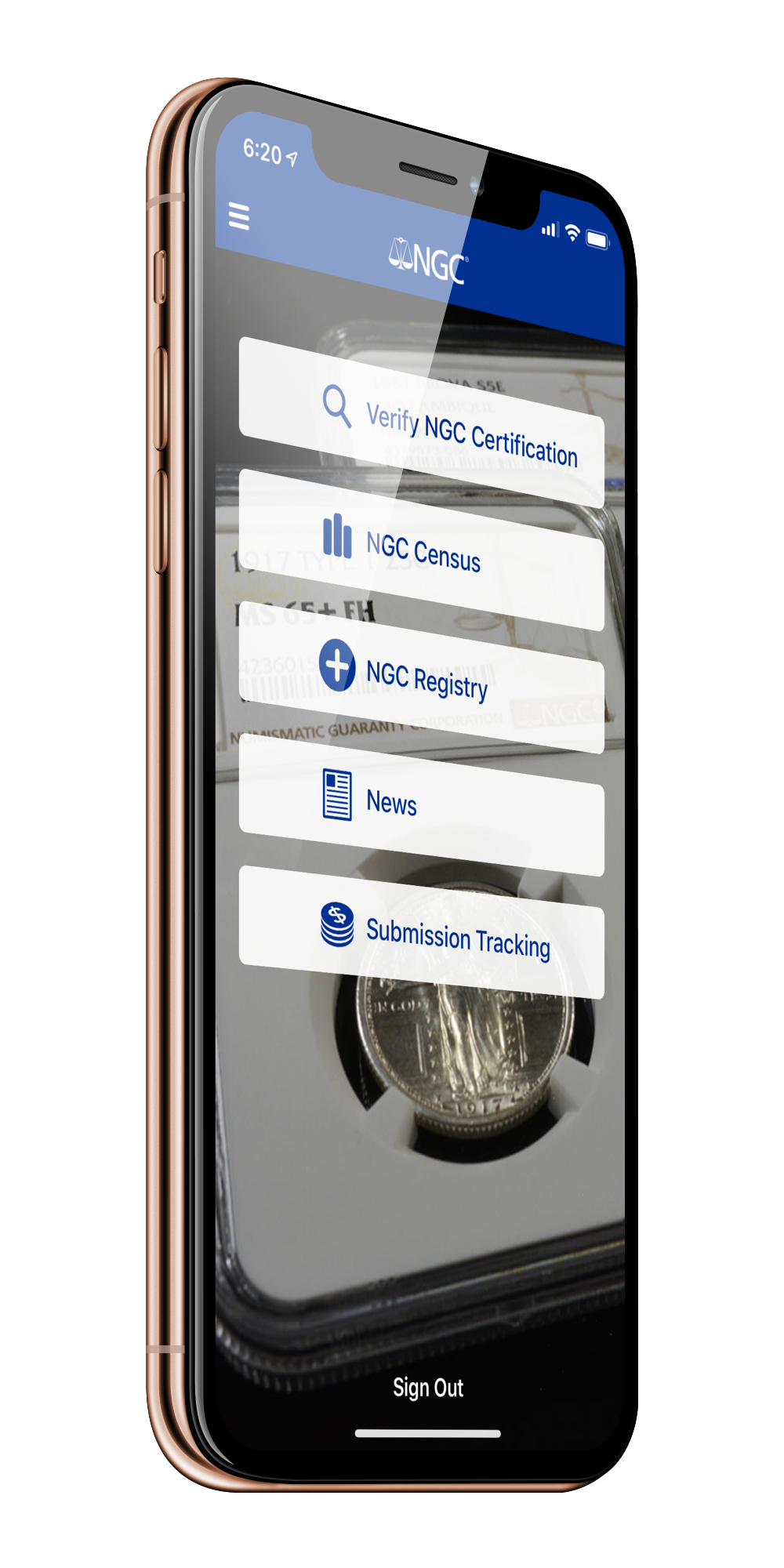 NGC App for iPhone