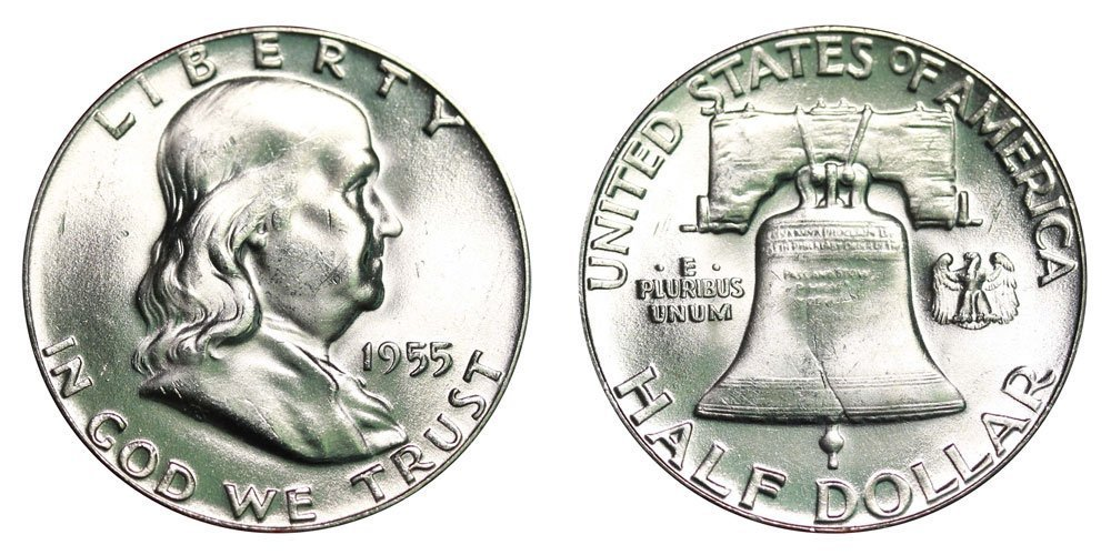 1955 Franklin Half Dollar