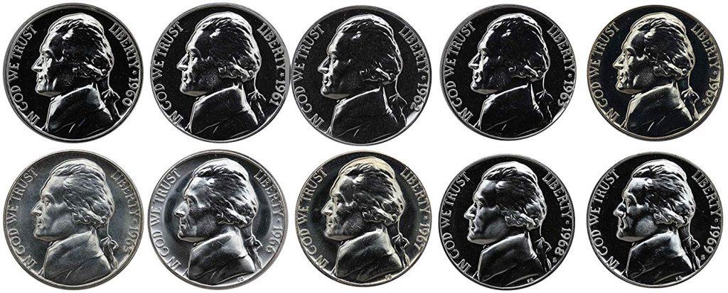 1960-1969 Jefferson Nickel Proof Set
