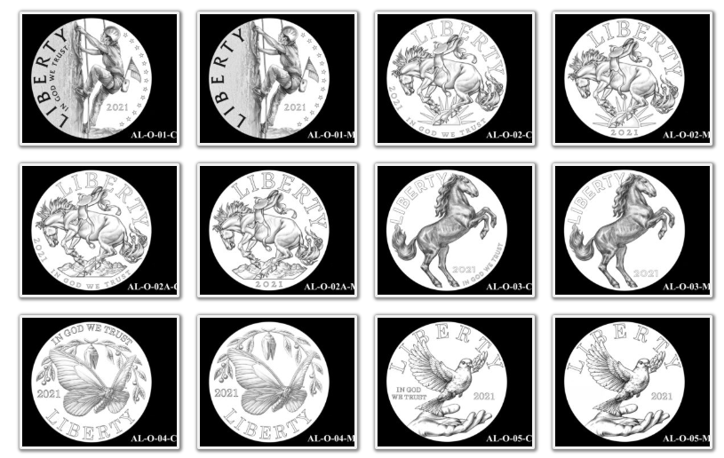 2021 American Liberty Coin & Medal Candidates Page 1