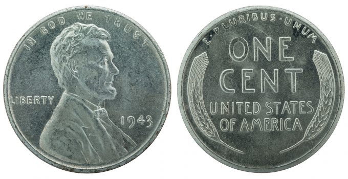 Steel 1943 Lincoln Cent