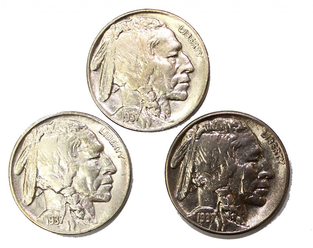 1937 Buffalo Nickel 3-Coin Set