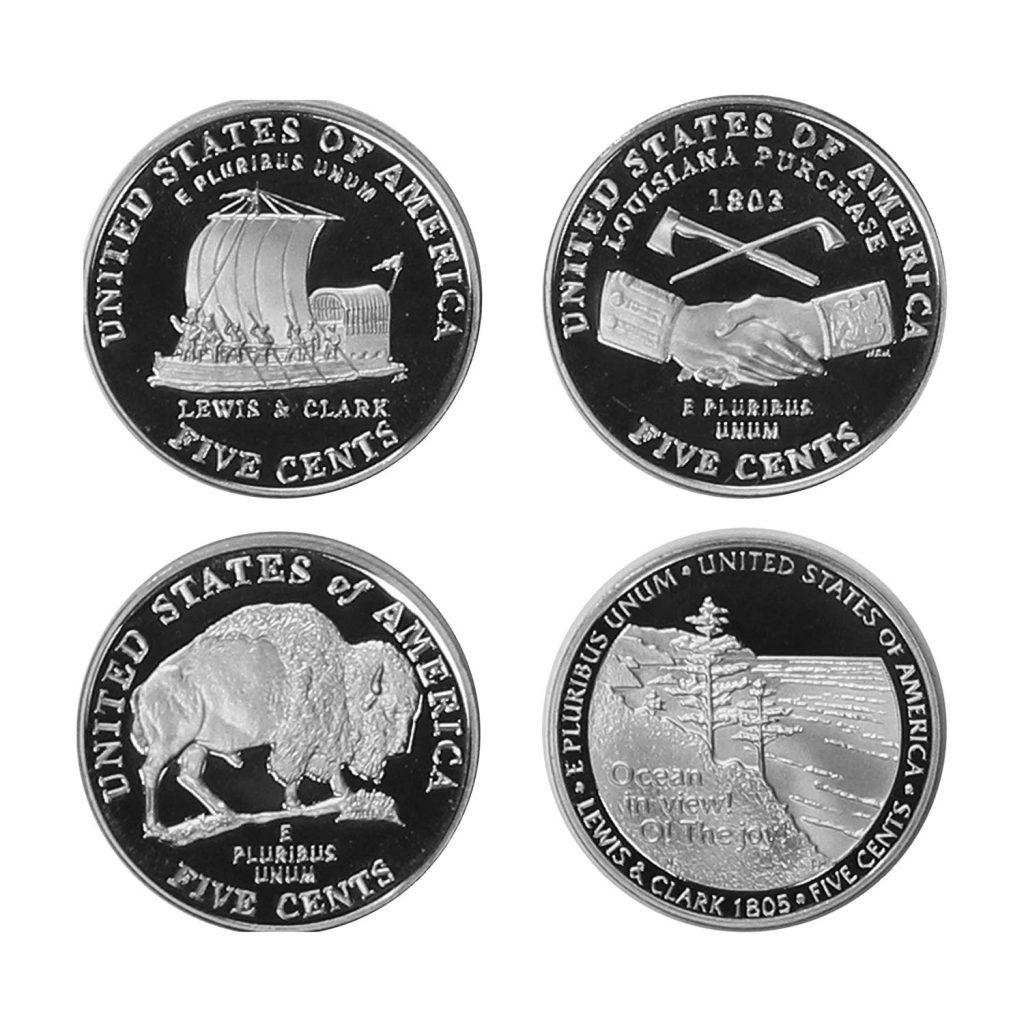 2004-2005 Jefferson Nickel Westward Journey 4-Coin Proof Set Reverse