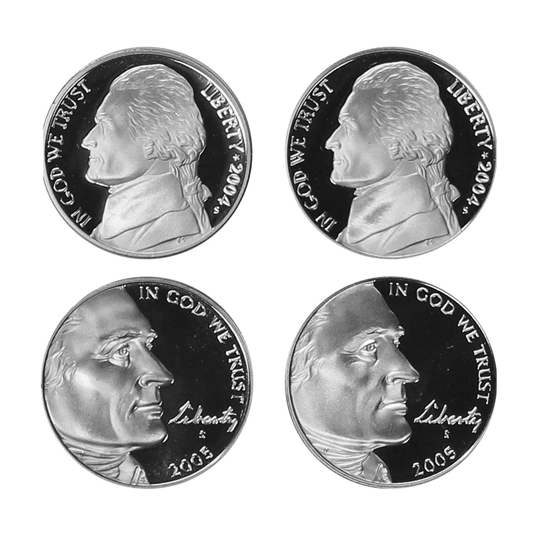 2004-2005 Jefferson Nickel Westward Journey 4-Coin Proof Set