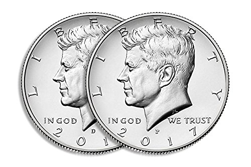 2017 D&P Kennedy Half Dollar Set
