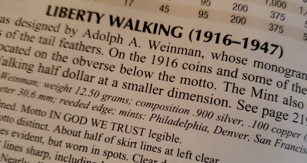 Liberty Walking Specifications from The Red Book