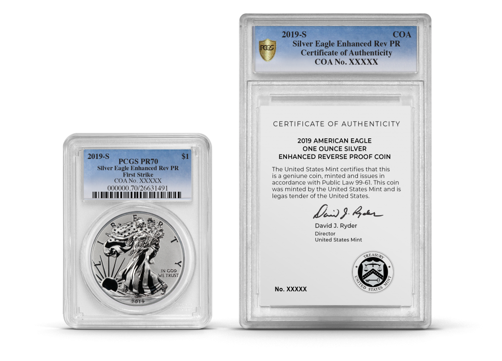 PCGS dual coin and COA encapsulations