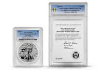 PCGS dual coin and COA encapsulations