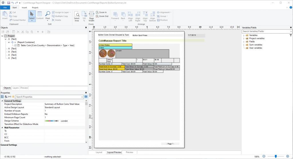 Report Editing Tool