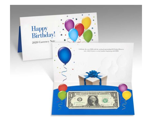 Happy Birthday Currency Note 2020