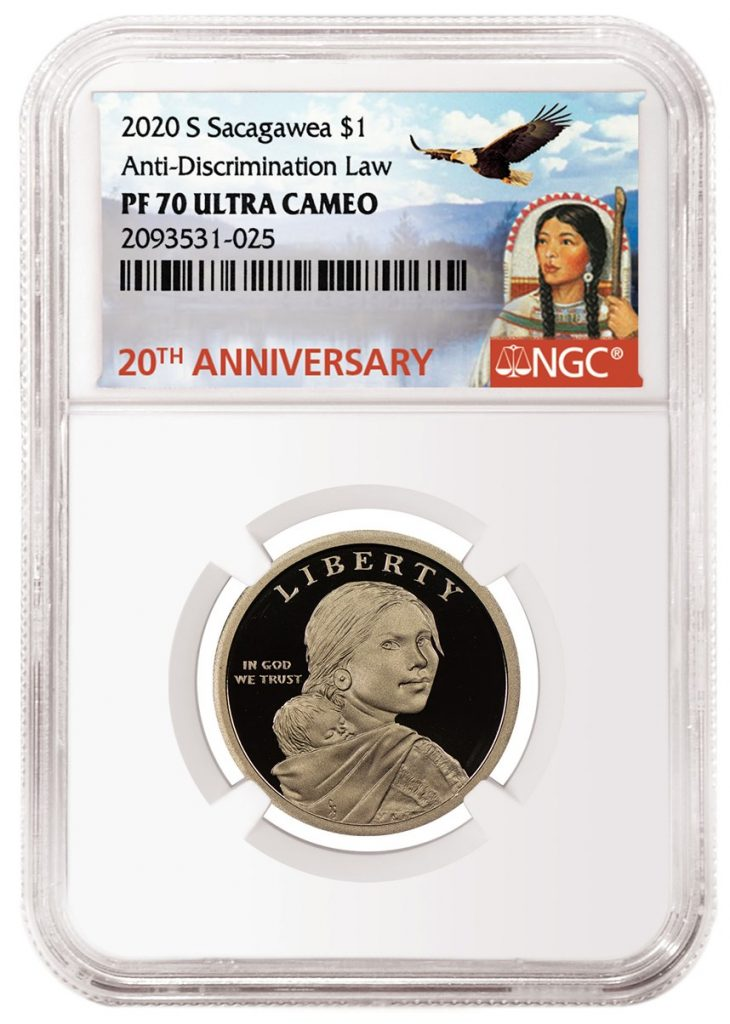 NGC 20th Anniversary Sacagawea Label