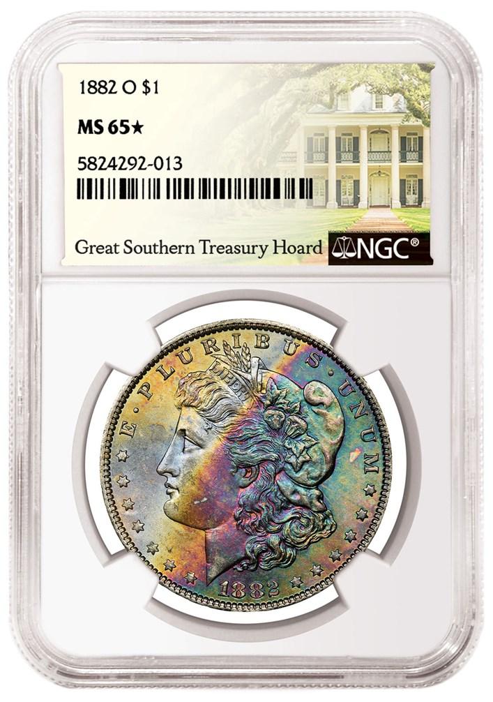 1882-O Morgan Dollar NGC MS-65
