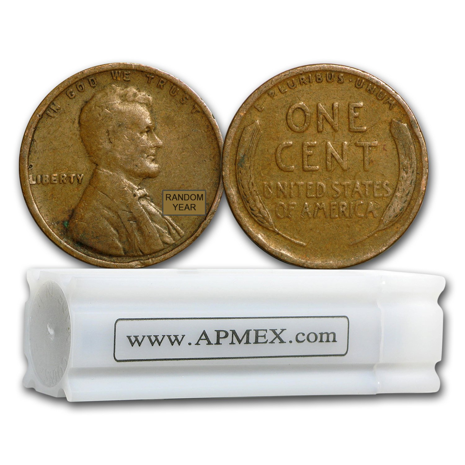 1909-1919 Lincoln Cent Average Circulated Roll