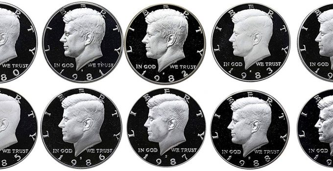 1980-1989 Kennedy Half Proof Complete Set