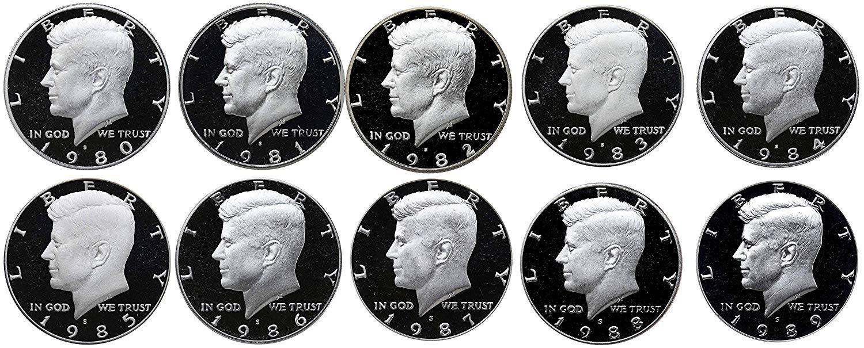 1980-1989 Kennedy Half Proof Complete Set