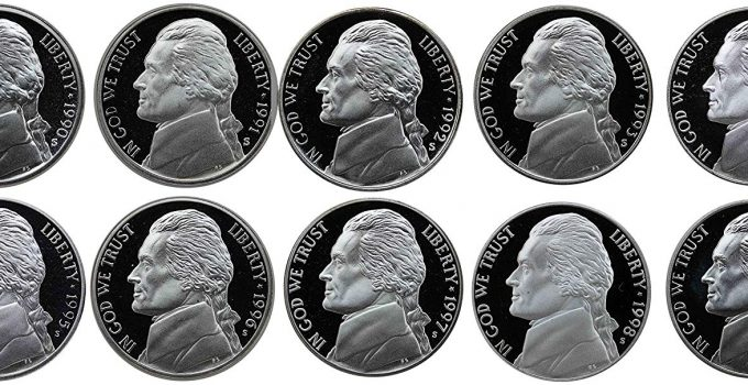 1990-1999 S Proof Jefferson Nickel