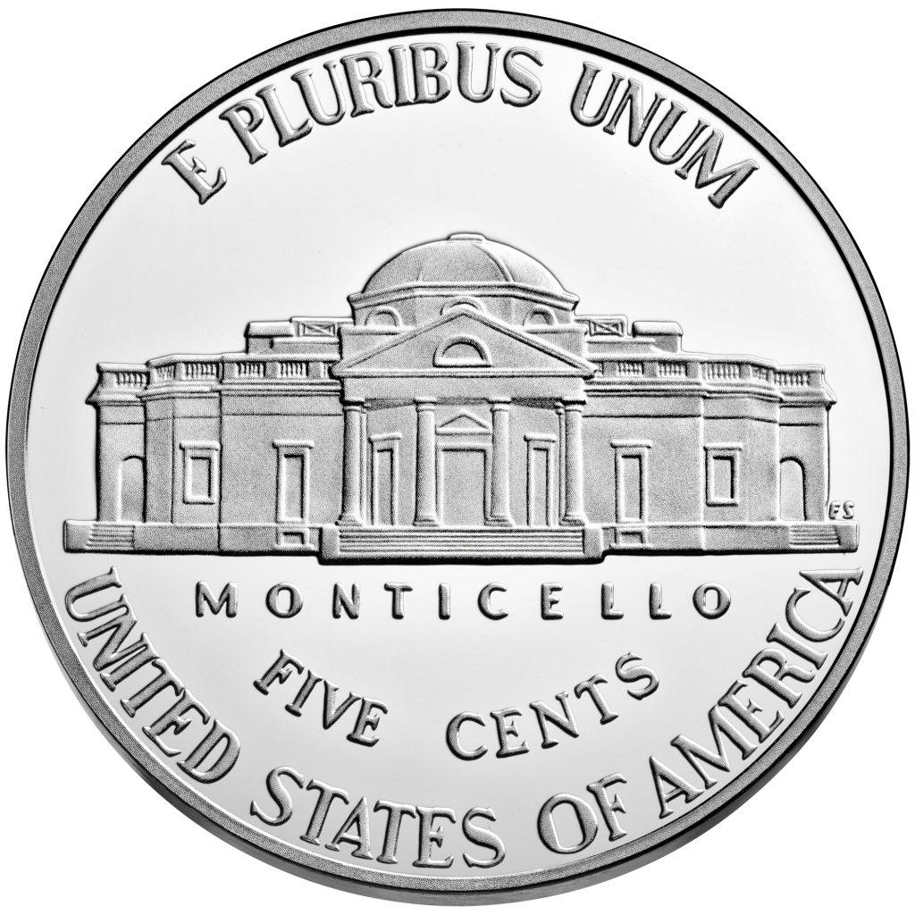 Reverse of Proof Jefferson Nickel