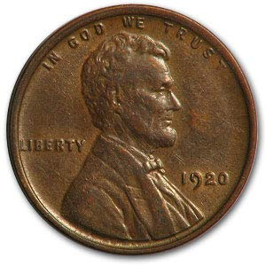 1920 Lincoln Cent Extremely Fine Condition