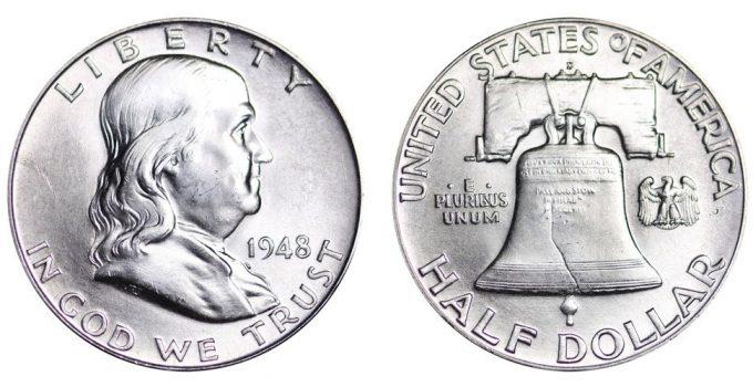 1948-D Franklin Half Dollar