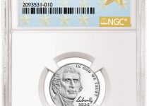 NGC First W Jefferson Nickel Label