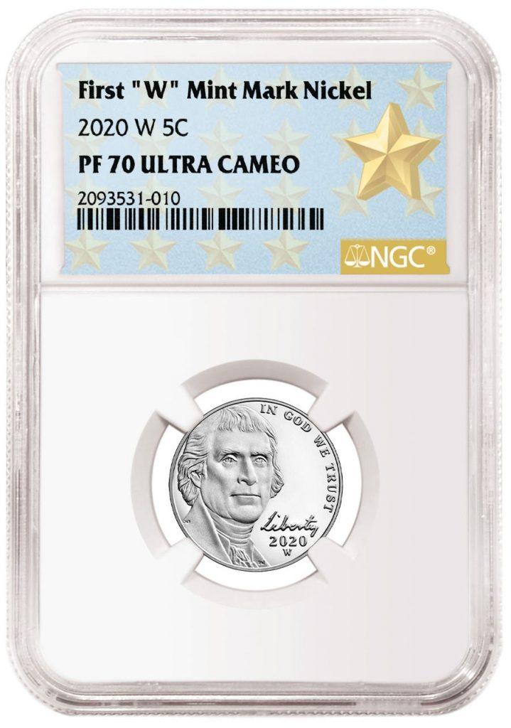 NGC First W Jefferson Nickel Label
