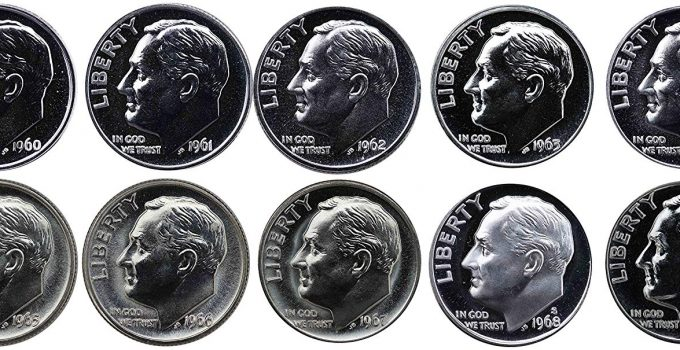 1960-1969 Roosevelt Dime Proof Set