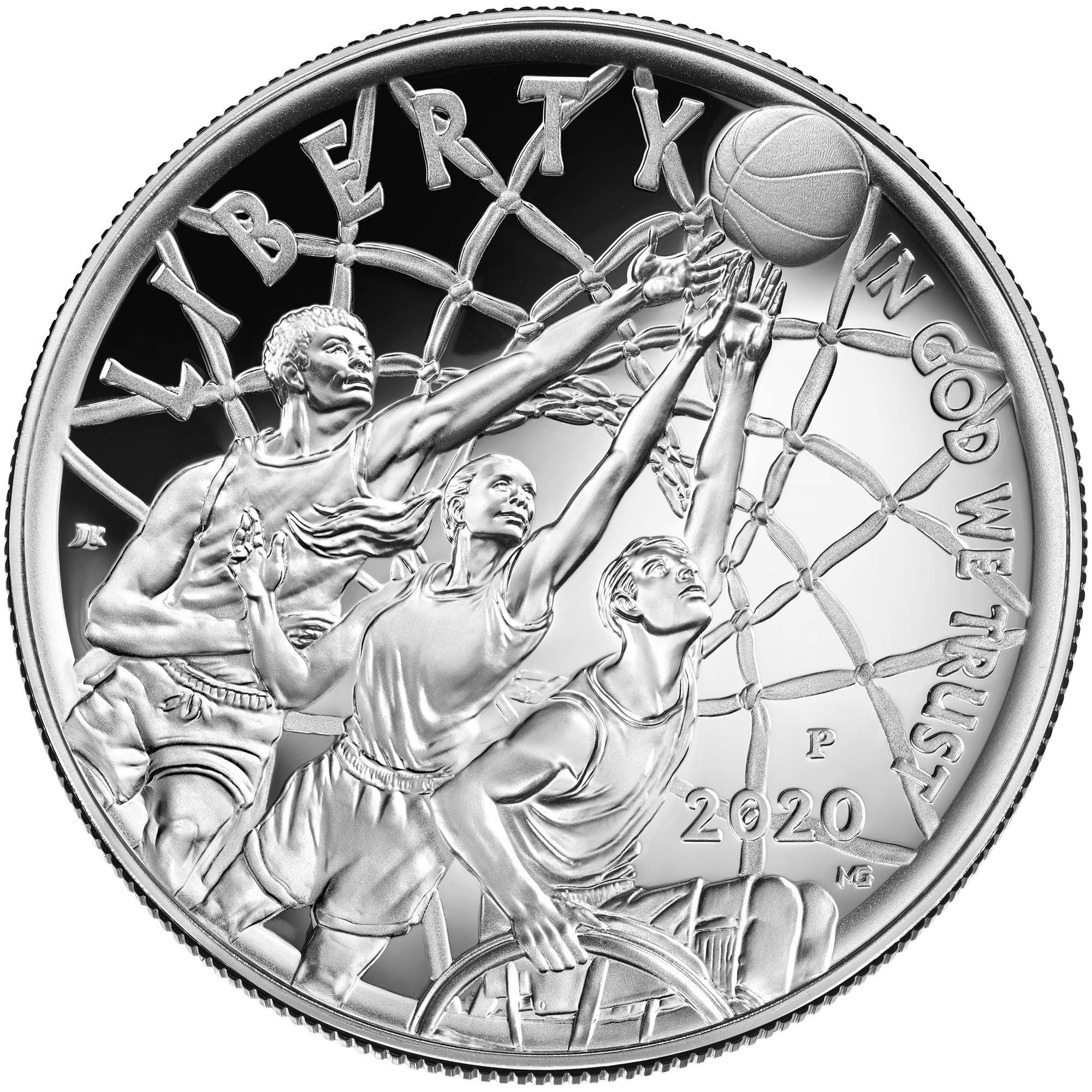 2020 Basketball Hall of Fame Commemorative Proof Obverse