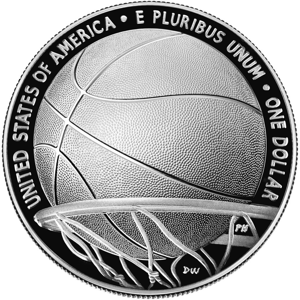 2020 Basketball Hall of Fame Commemorative Proof Reverse