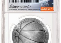 2020 Basketball Hall of Fame Coin Designer Donna Weaver Signing Labels Exclusively with NGC