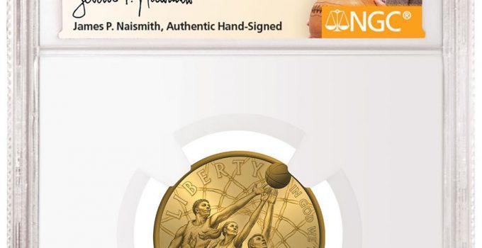 2020 Basketball Hall of Fame James P. Naismith Signed Label