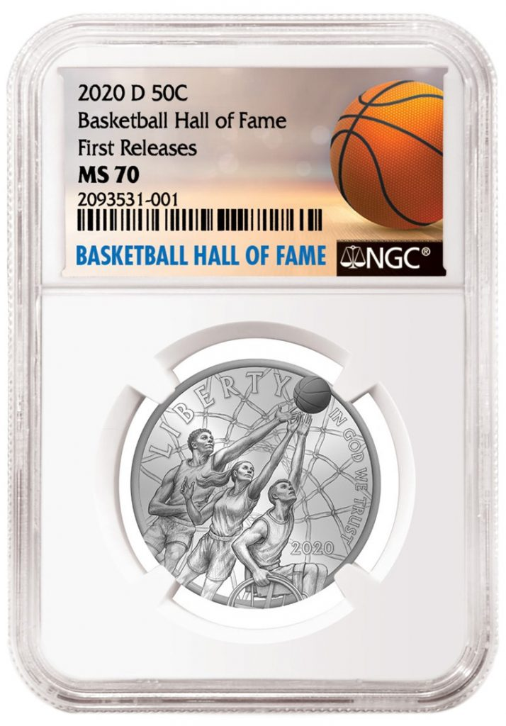 2020 Basketball Hall of Fame Special NGC Label