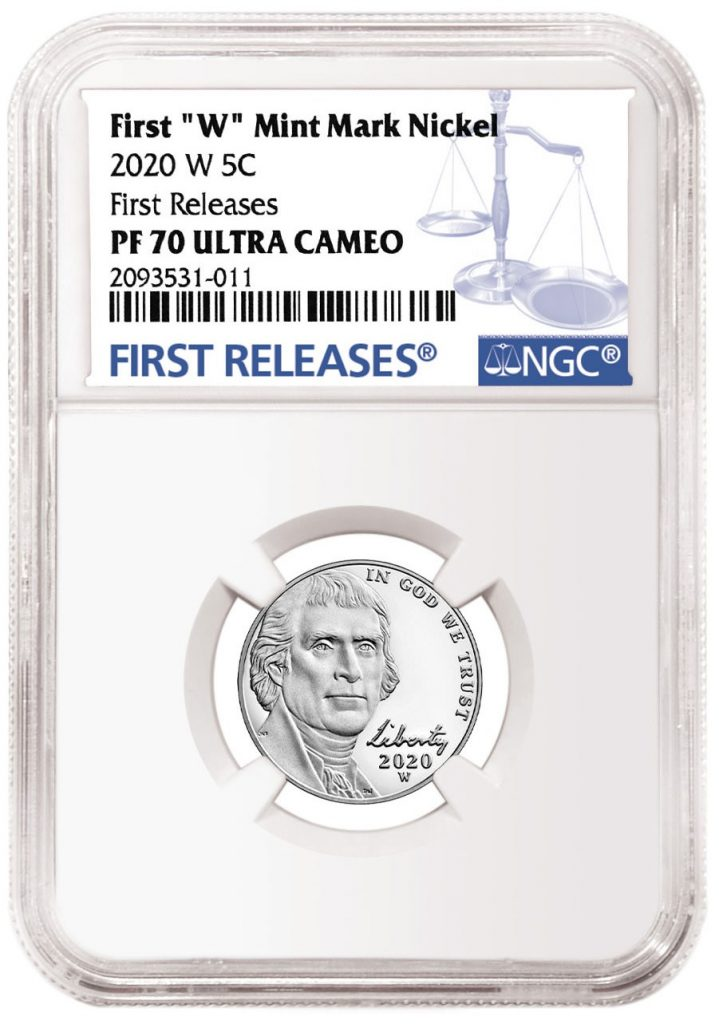 2020-W Jefferson Nickel NGC First Release Label