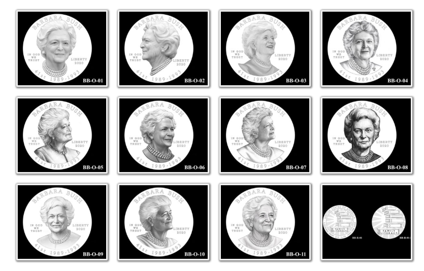 Barbara Bush Gold Coin & Bronze Medal Candidates Page 1