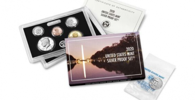 2020 Silver Proof Set with 2020-W Jefferson Nickel Reverse Proof