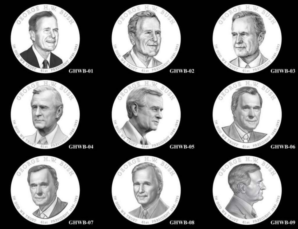 George H.W. Bush Presidential Dollar Design Candidates