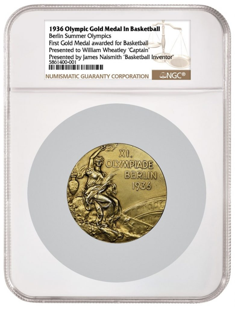 1936 Olympic Gold Medal in Basketball NGC Graded