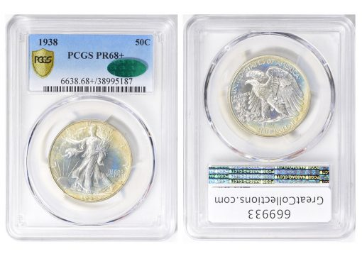 1938 Proof Walking Liberty Half Dollar (Image Courtesy of GreatCollections)
