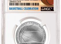NGC Enhanced Finished Basketball Hall of Fame Half Dollar