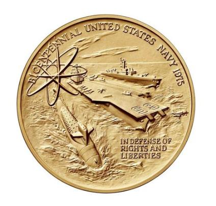 US Navy Bicentennial Bronze Medal