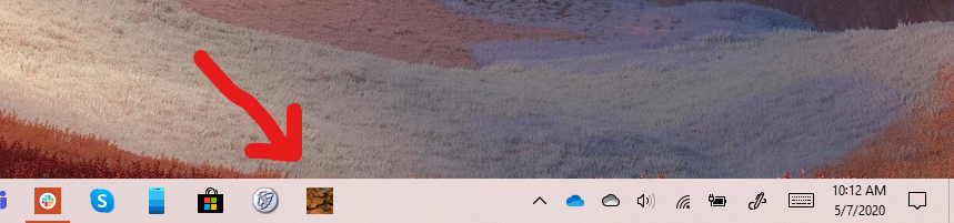 USCoinNews Icon on Windows 10 Taskbar