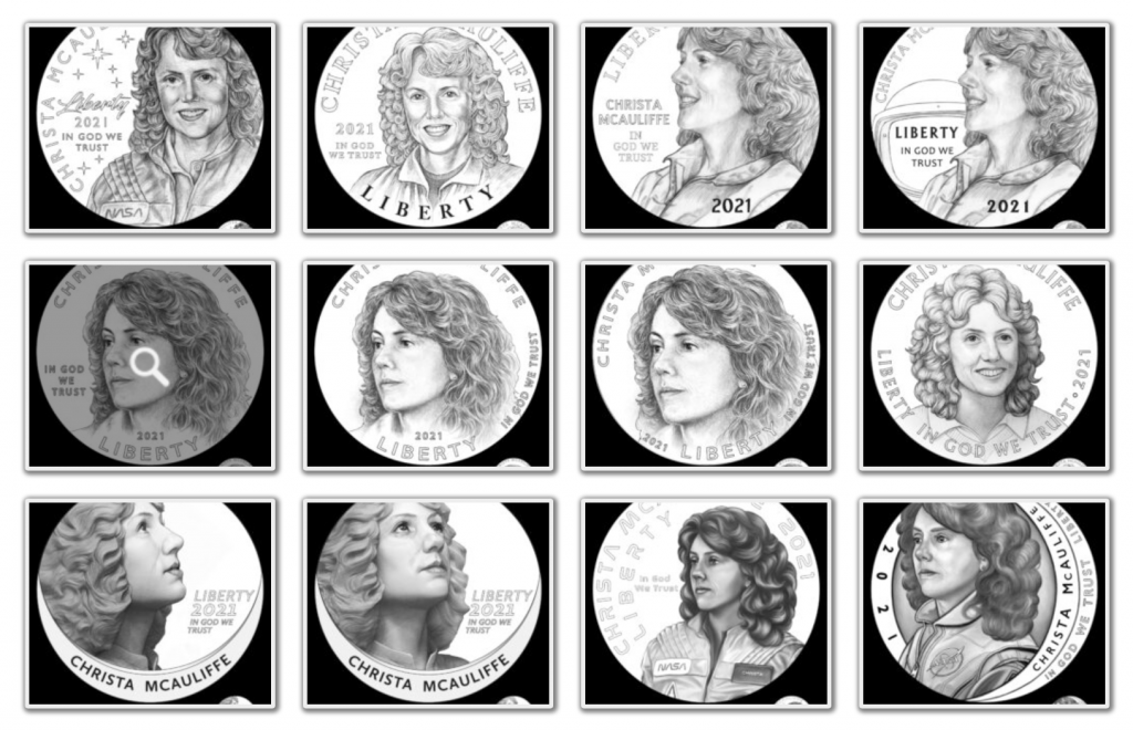 Christa McAuliffe Commemorative Obverse